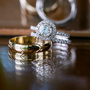 bride-groom-engagment-ring-wedding-bands-karen-rosengart